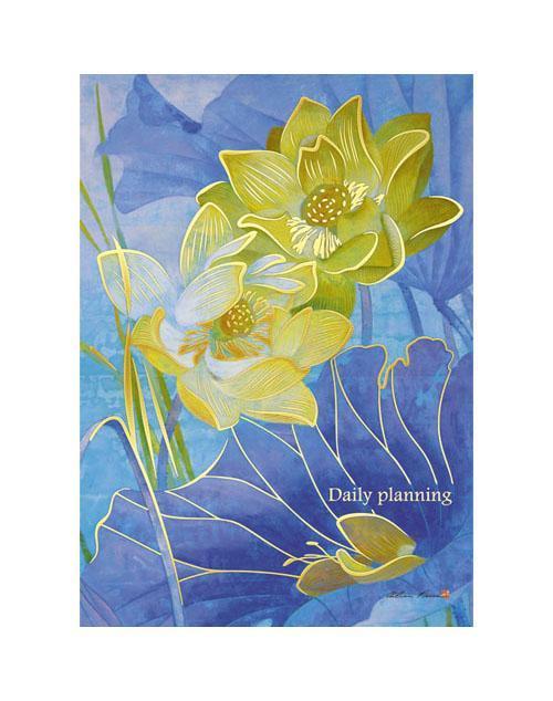 Ежедневник А6+ Недатированный Water lilies. Прекрасные лилии 160л.ЕЖФ14616007Уникальность этого ежедневника заключается в специальном покрытии поверхности обложки с эффектом Мокрого шелка. Броские, яркие дизайны изделий не оставят равнодушными дотошного покупателя. Двойное ляссе (Двойная закладка), фиксация обложки-резинка, увеличенная плотность внутреннего блока (80гр.м.) и невероятная поверхность обложки приятно удивят взыскательного клиента. Удобный формат А6+ позволяет с комфортом использовать ежедневники в любых условиях. Придать живость чопорным офисным совещаниям - удается легко.