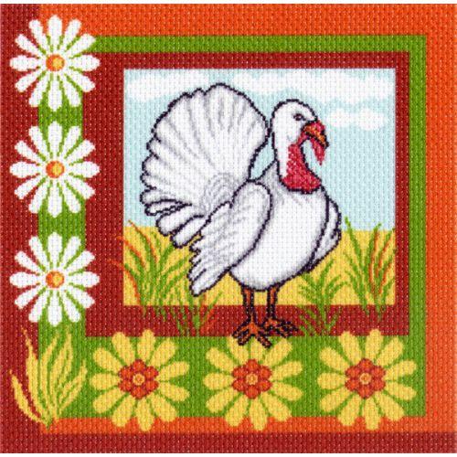 Канва с рисунком для вышивания Индюк, 41 см х 41 см. 1522426805_1522Канва с рисунком для вышивания Индюк изготовлена из хлопка. Рисунок-вышивка выполненный на такой канве, выглядит очень оригинально. Вышивка выполняется в технике полный крестик в 2-3 нити или полукрестом в 4 нити. Для этого возьмите отрез (60 см) мулине нужного цвета, который состоит из 6 ниточек. Вышивание отвлечет вас от повседневных забот и превратится в увлекательное занятие! Работа, сделанная своими руками, создаст особый уют и атмосферу в доме и долгие годы будет радовать вас и ваших близких, а подарок, выполненный собственноручно, станет самым ценным для друзей и знакомых. Рекомендуемое количество цветов: 11. Размер канвы: 41 см х 41 см. Не рекомендуется стирать или мочить рисунок на канве перед вышиванием. УВАЖАЕМЫЕ КЛИЕНТЫ! Обращаем ваше внимание, на тот факт, что цвет символа на ткани может отличаться от реального цвета нити мулине.