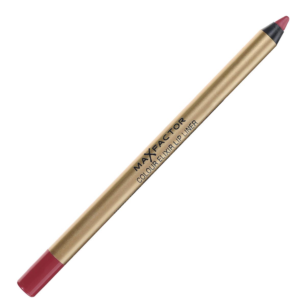 Max Factor Карандаш для губ Colour Elixir Lip Liner, тон №10 red rush, цвет: красный81440162Карандаш для губ Colour Elixir подчеркивает твои губы, придавая им форму. Роскошный цвет и увлажнение для мягких и гладких губ. Оттенки подходят к палитре помады Colour Elixir. Легко наносится. Товар сертифицирован.