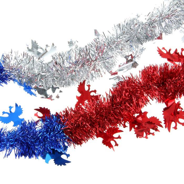 Мишура новогодняя Sima-land, цвет: синий, красный, серебристый, диаметр 5 см, длина 2 м. 279388279388Мишура новогодняя Sima-land, выполненная из трехцветной фольги, поможет вам украсить свой дом к предстоящим праздникам. Мишура армирована, то есть имеет проволоку внутри и способна сохранять приданную ей форму. Новогодняя елка с таким украшением станет еще наряднее. Новогодней мишурой можно украсить все, что угодно - елку, квартиру, дачу, офис - как внутри, так и снаружи. Можно сложить новогодние поздравления, буквы и цифры, мишурой можно украсить и дополнить гирлянды, можно выделить дверные колонны, оплести дверные проемы. Коллекция декоративных украшений из серии Зимнее волшебство принесет в ваш дом ни с чем несравнимое ощущение праздника! Создайте в своем доме атмосферу тепла, веселья и радости, украшая его всей семьей.