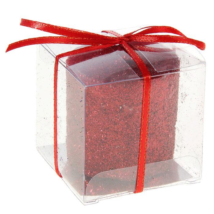 Свеча декоративная Sima-land Столбик, цвет: красный. 296062296062