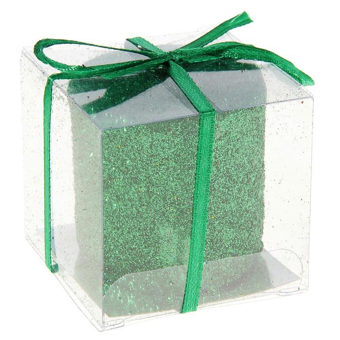 Свеча декоративная Sima-land Столбик, цвет: зеленый. 296063296063