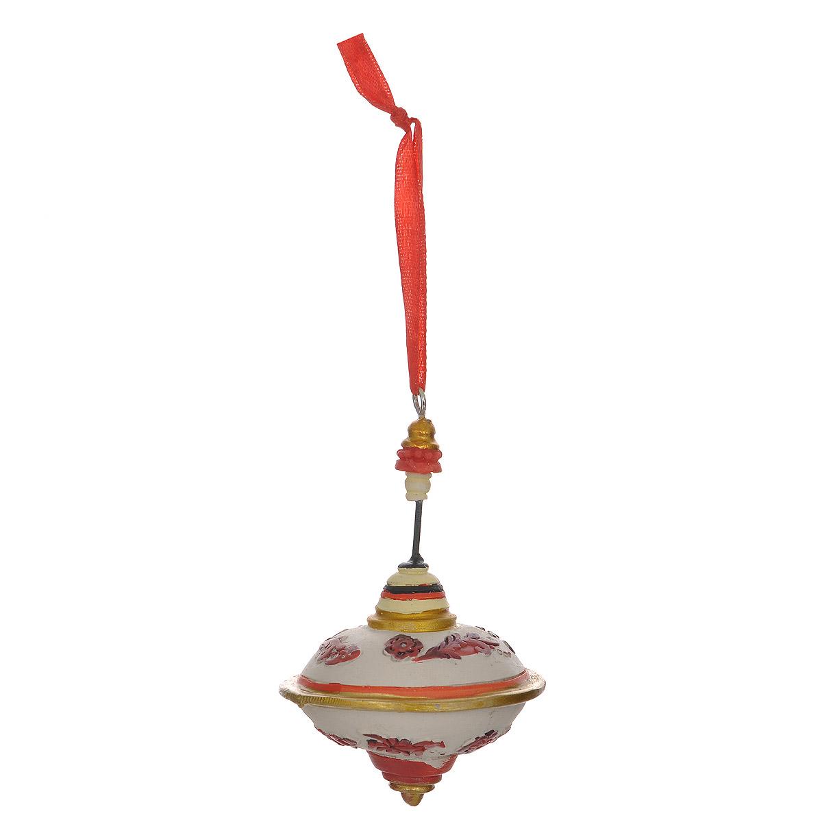 Новогоднее подвесное украшение Юла. 3434Оригинальное новогоднее украшение из пластика прекрасно подойдет для праздничного декора дома и новогодней ели. Изделие крепится на елку с помощью металлического зажима.