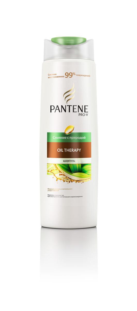 Pantene Pro-V Шампунь Слияние с природой. Oil Therapy, 400 млPT-81416646Шампунь Pantene Pro-V Слияние с природой. Oil Therapy - восстановление 99% повреждений без утяжеления. Шампунь объединяет научные достижения Pro-V, питательное масло и экстракт кассии - натуральный компонент, который помогает восстановить поврежденную поверхность волос от корней и до самых кончиков без утяжеления. Товар сертифицирован.