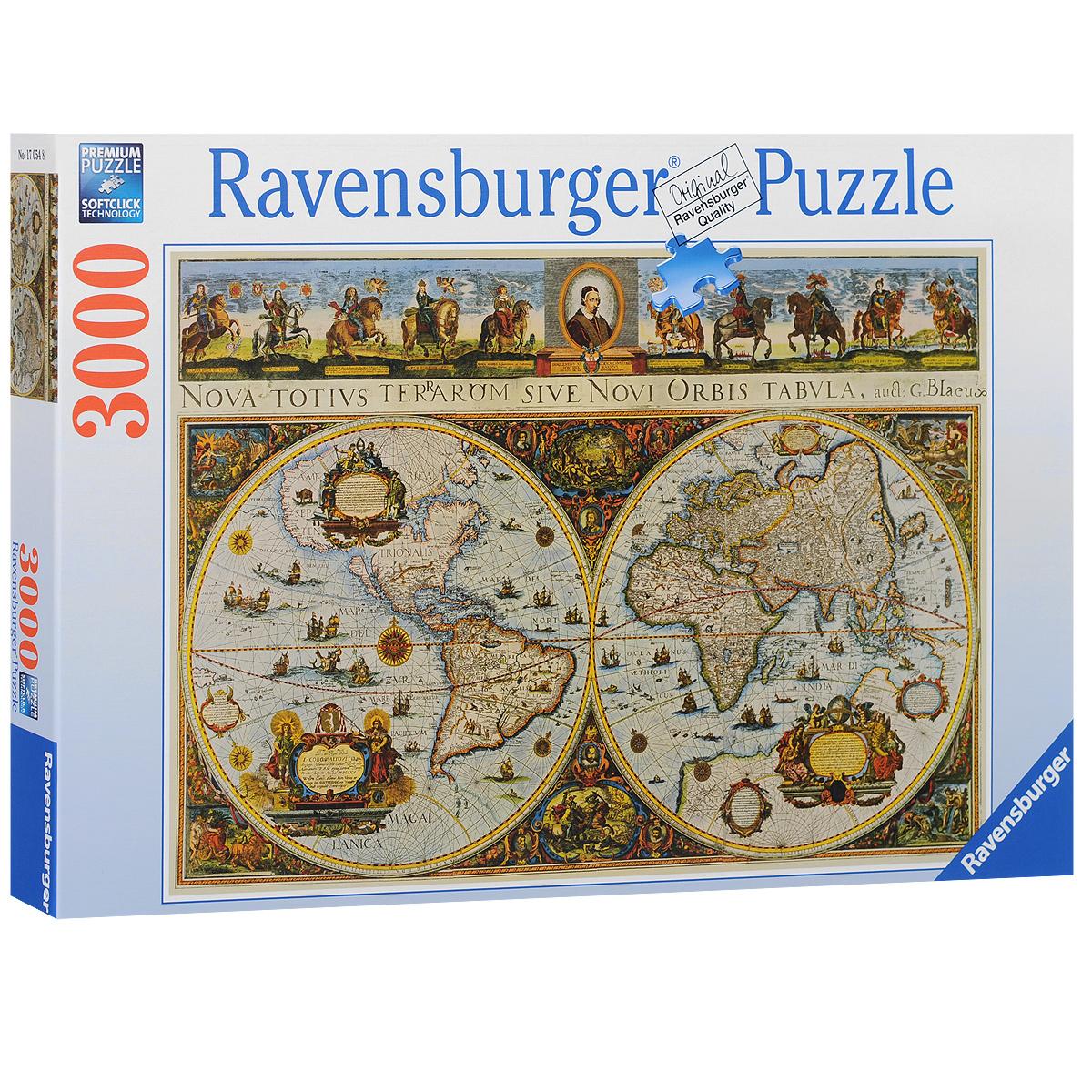 Ravensburger Историческая карта. Пазл, 3000 элементов