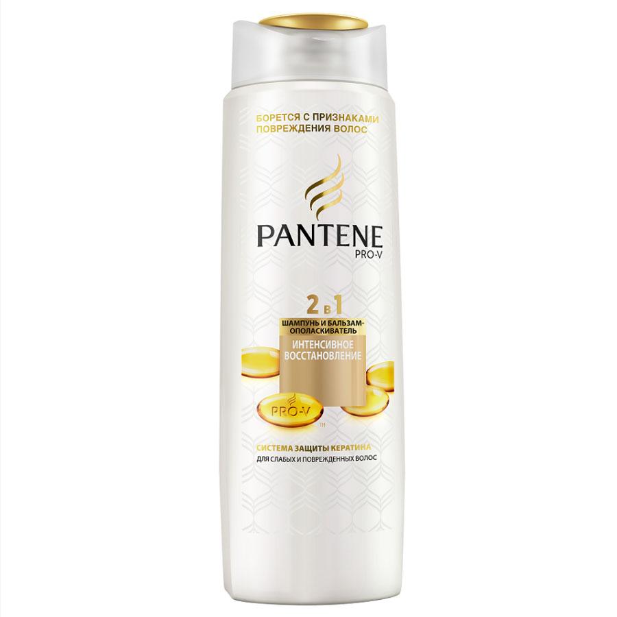 Pantene Pro-V Шампунь и бальзам-ополаскиватель 2в1 Интенсивное восстановление, для слабых и поврежденных волос, 400 мл