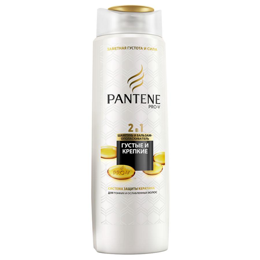 Pantene Pro-V Шампунь и бальзам-ополаскиватель 2в1 Густые и крепкие, для тонких и ослабленных волос, 400 мл