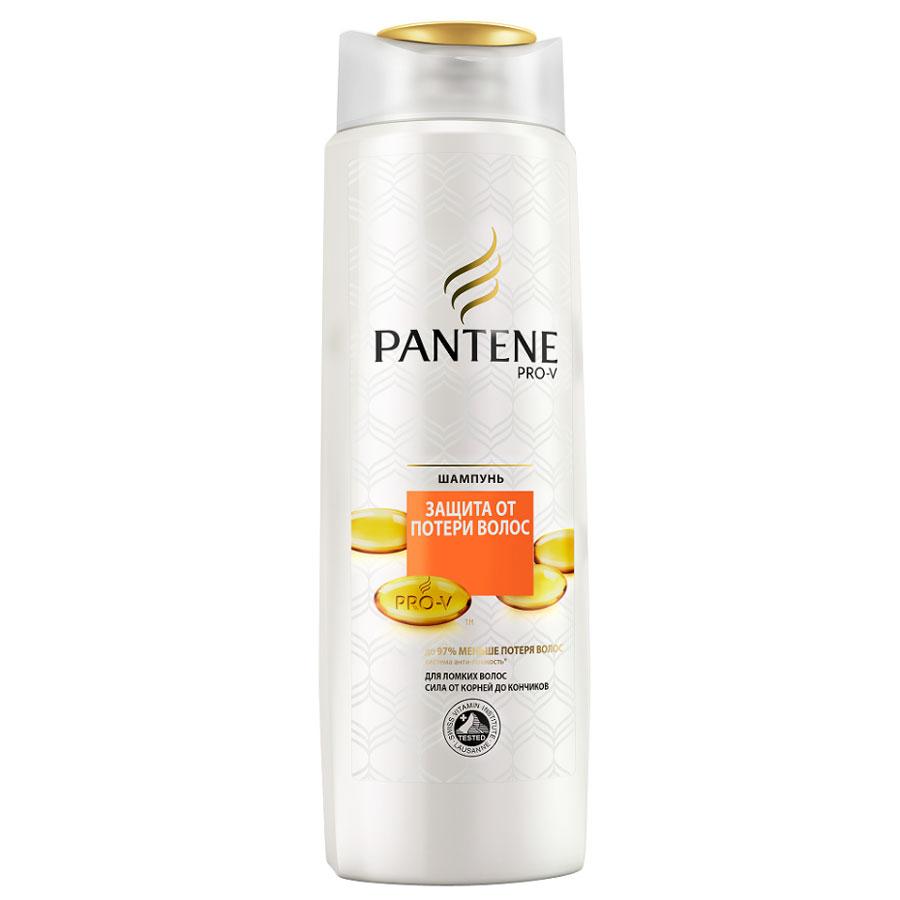 Pantene Pro-V Шампунь Защита от потери волос, для ломких волос, 400 млPT-81467899Шампунь Pantene Pro-V Защита от потери волос с системой Анти-ломкость укрепляет ваши волосы и эффективно защищает от повреждений и стресса от укладки. Сила от корней до кончиков. Укрепляет волосы от корней до кончиков против повреждений в результате укладки, для уменьшения потери волос до 97%. Ваши волосы сияют здоровьем с каждым мытьем головы. Концентрация витаминов сертифицирована Швейцарским Институтом Витаминов. Товар сертифицирован.