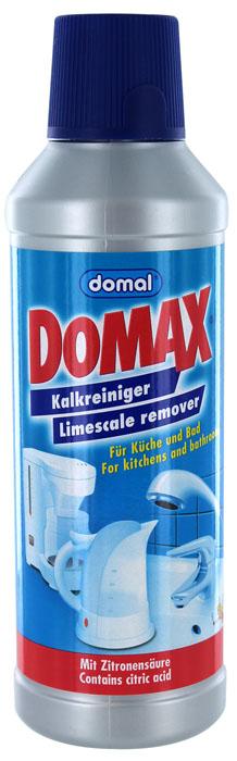 Биоочиститель накипи Domax для всех водонагревательных приборов, 500 мл158061Специально разработанная формула на основе безвредных для человека биологических веществ. Эффективно удаляет накипь в чайниках, кофеварках, посуде, стиральных машинах, а также трудноудаляемые известковые отложения с твердых поверхностей в ванной и на кухне. Не имеет запаха. Регулярное использование Domax улучшит работу и продлит срок службы ваших водонагревательных приборов. Способ применения: Чайники и водонагревательные приборы : налить 1л воды в чайник (резервуар). В зависимости от загрязнения добавить 150-200 мл средства. Нагреть раствор до 50°С и оставить действовать на 30 мин. Затем вылить раствор, тщательно прополоскать и прокипятить емкость. Кофеварки : налить 200 мл воды в резервуар для воды кофеварки и затем 50 мл средства. Включить кофеварку и прогнать около 100 мл раствора. Выключить кофеварку и дать остаткам раствора подействовать около 15 мин. Затем пропустить остатки раствора и дважды прогнать чистой водой. ...
