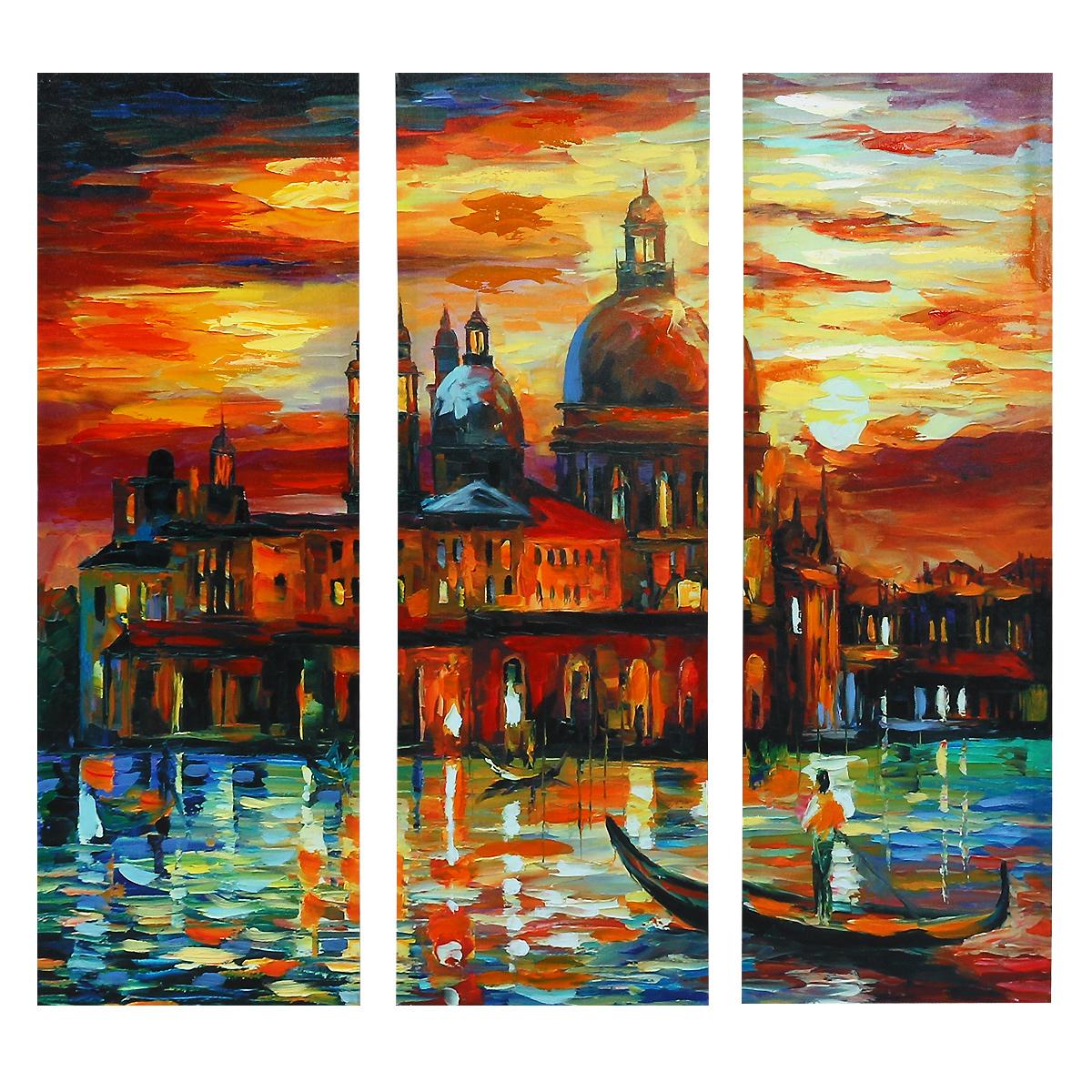 Картина-репродукция без рамки Венеция, 78 см х 80 см х 2,5 см. 3602936029Картина-репродукция без рамки Венеция выполнена из натуральной древесины. Техника выполнения - масляная печать на холсте с ручной подрисовкой. Картина состоит из трех частей с красочным изображением каналов Венеции на фоне площади Сан-Марко. Такая картина - вдохновляющее декоративное решение, привносящее в интерьер нотки творчества и изысканности! Благодаря оригинальному дизайну картина дополнит интерьер любого помещения, а также сможет стать изысканным подарком для ваших друзей и близких.