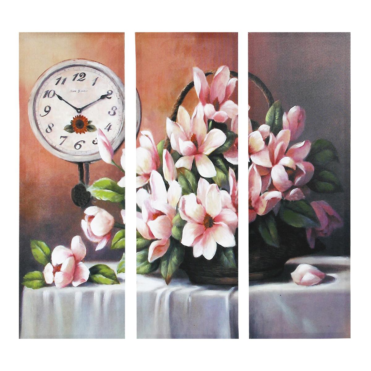 Картина-репродукция без рамки Цветы, 78 х 80 х 2,5 см 3603636036Картина-репродукция без рамки Цветы выполнена из натуральной древесины. Техника выполнения - масляная печать на холсте с ручной подрисовкой. Картина состоит из трех частей с красочным изображением букета цветов. Такая картина - вдохновляющее декоративное решение, привносящее в интерьер нотки творчества и изысканности! Благодаря оригинальному дизайну картина дополнит интерьер любого помещения, а также сможет стать изысканным подарком для ваших друзей и близких.