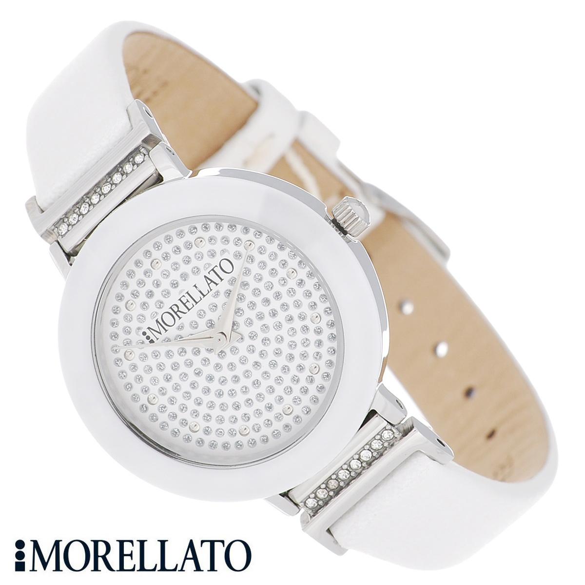 Часы женские наручные Morellato, цвет: белый. R0151103514R0151103514Наручные женские часы Morellato оснащены кварцевым механизмом. Корпус выполнен из высококачественной нержавеющей стали и по контуру циферблата оформлен керамической вставкой. Циферблат без отметок украшен кристаллами и защищен минеральным стеклом. Часы имеют три стрелки - часовую, минутную и секундную. Ремешок часов выполнен из натуральной кожи и оснащен классической застежкой. Часы укомплектованы паспортом с подробной инструкцией. Часы Morellato отличаются уникальным, но в то же время простым и лаконичным стилем. Характеристики: Диаметр циферблата: 2,3 см. Размер корпуса: 3 см х 3 см х 0,6 см. Длина ремешка (с корпусом): 21,5 см. Ширина ремешка: 1,2 см.