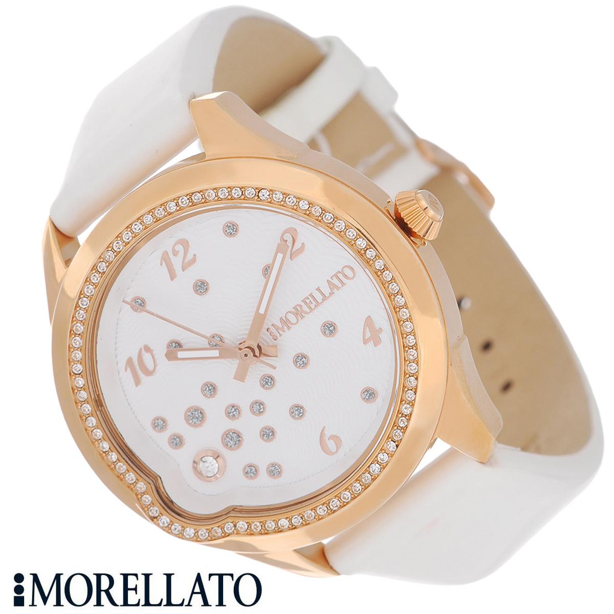Часы женские наручные Morellato, цвет: белый, розовое золото. R0151111502R0151111502Наручные женские часы Morellato оснащены кварцевым механизмом. Корпус выполнен из высококачественной нержавеющей стали с PVD-покрытием и по контуру циферблата инкрустирован кристаллами. Циферблат с арабскими цифрами украшен кристаллами и защищен минеральным стеклом. Часы имеют три стрелки - часовую, минутную и секундную. Ремешок часов выполнен из натуральной кожи и оснащен классической застежкой. Часы укомплектованы паспортом с подробной инструкцией. Часы Morellato отличаются уникальным, но в то же время простым и лаконичным стилем. Характеристики: Диаметр циферблата: 2,9 см. Размер корпуса: 3,7 см х 4 см х 0,9 см. Длина ремешка (с корпусом): 21,5 см. Ширина ремешка: 1,6 см.