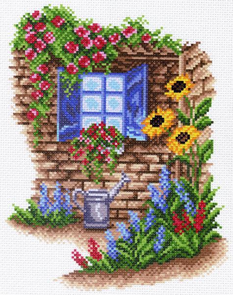 Канва с рисунком для вышивания Окно в сад, 17 см х 22,5 см. 1481426195_1481Канва с рисунком для вышивания Окно в сад изготовлена из хлопка. Рисунок-вышивка выполненный на такой канве, выглядит очень оригинально. Вышивка выполняется в технике полный крестик в 2-3 нити или полукрестом в 4 нити. Вышивание отвлечет вас от повседневных забот и превратится в увлекательное занятие! Работа, сделанная своими руками, создаст особый уют и атмосферу в доме и долгие годы будет радовать вас и ваших близких, а подарок, выполненный собственноручно, станет самым ценным для друзей и знакомых. Рекомендуемое количество цветов: 20. Размер канвы: 27 см х 35,5 см. Не рекомендуется стирать или мочить рисунок на канве перед вышиванием. УВАЖАЕМЫЕ КЛИЕНТЫ! Обращаем ваше внимание, на тот факт, что цвет символа на ткани может отличаться от реального цвета нити мулине.