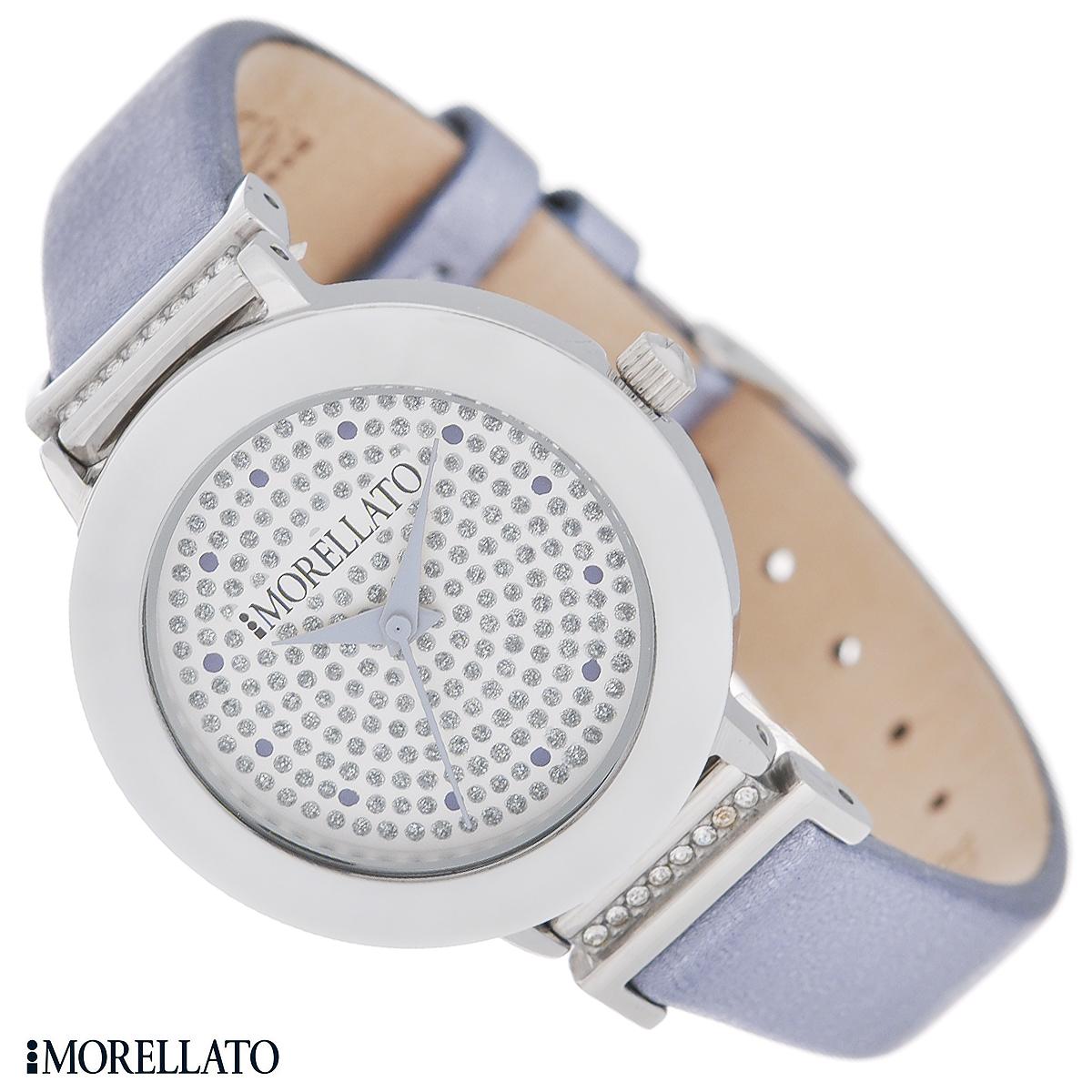 Часы женские наручные Morellato, цвет: сиреневый, белый. R0151103513R0151103513Наручные женские часы Morellato оснащены кварцевым механизмом. Корпус выполнен из высококачественной нержавеющей стали и по контуру циферблата оформлен керамической вставкой. Циферблат без отметок украшен кристаллами и защищен минеральным стеклом. Часы имеют три стрелки - часовую, минутную и секундную. Ремешок часов выполнен из натуральной кожи с металлизированным эффектом и оснащен классической застежкой. Часы укомплектованы паспортом с подробной инструкцией. Часы Morellato отличаются уникальным, но в то же время простым и лаконичным стилем. Характеристики: Диаметр циферблата: 2,3 см. Размер корпуса: 3 см х 3 см х 0,6 см. Длина ремешка (с корпусом): 21,5 см. Ширина ремешка: 1,2 см.