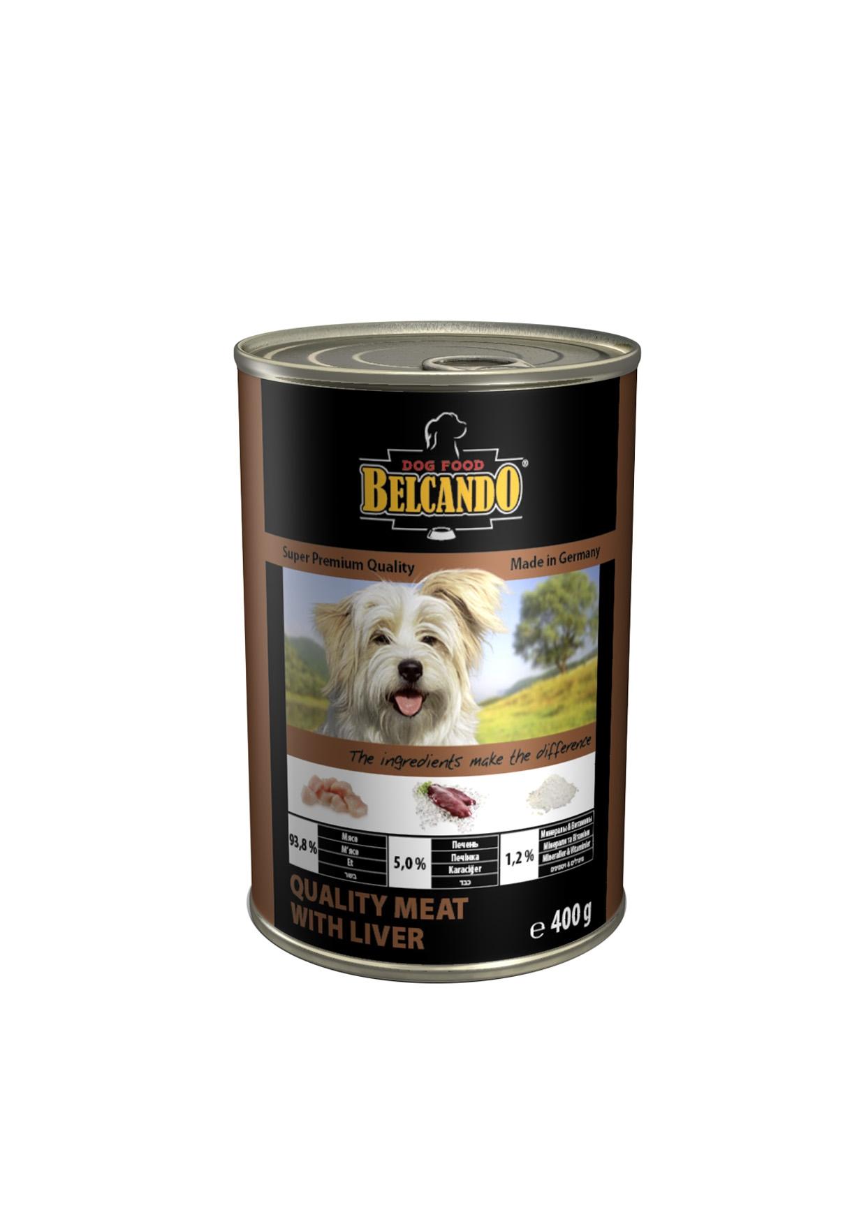 Консервы для собак Belcando, с мясом и печенью, 400 г13151Консервы Belcando - это полнорационное влажное питание для собак. Подходят для собак всех возрастов. Комбинируется с любым типом корма, в том числе с натуральной пищей. Состав: мясо 93,8%, печень 5%, витамины и минералы 1,2%. Анализ состава: протеин 14 %, жир 5,5 %, клетчатка 0,2 %, зола 2 %, влажность 79 %, витамин А 2,500 МЕ/кг, витамин Е 40 мг/кг, витамин D3 250 МЕ/кг, кальций 0,4 %, фосфор 0,16 %. Вес: 400 г. Товар сертифицирован.