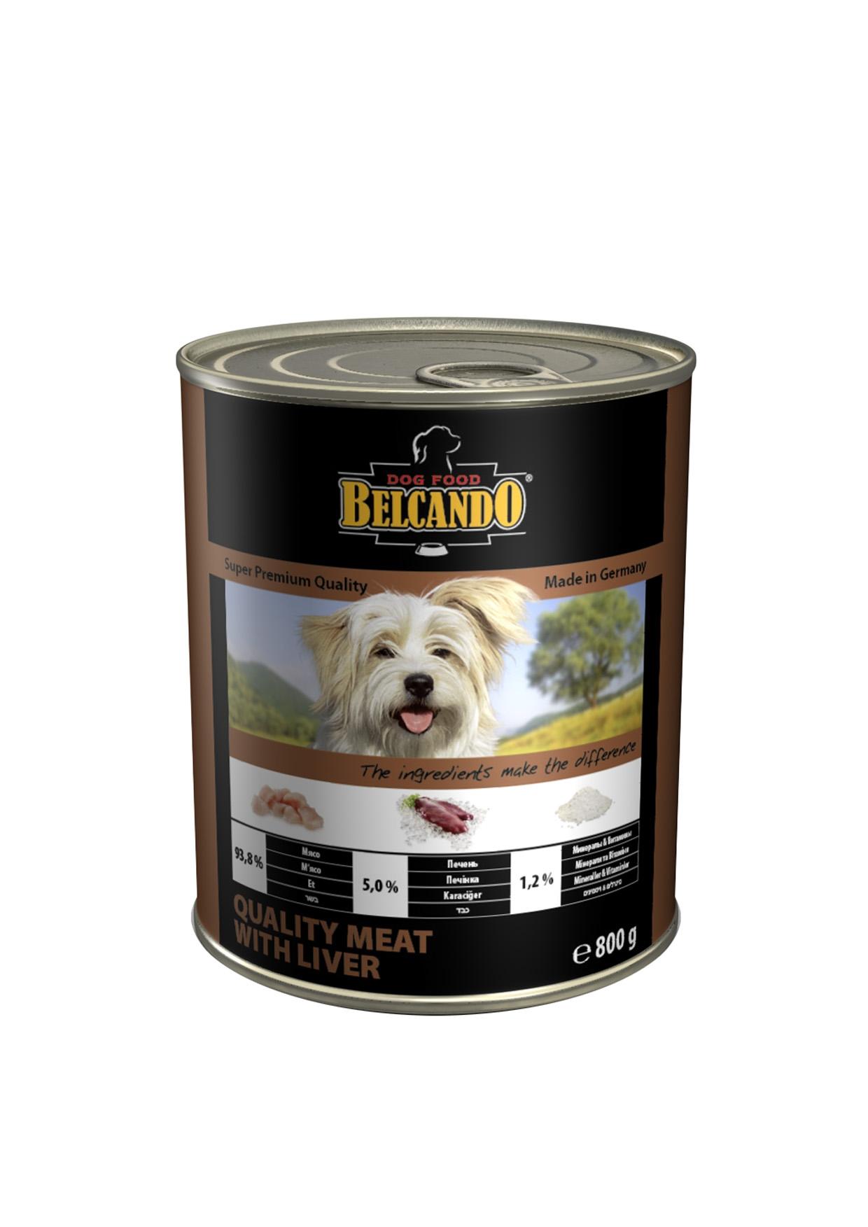 Консервы для собак Belcando, с мясом и печенью, 800 г13155Консервы Belcando - это полнорационное влажное питание для собак. Подходят для собак всех возрастов. Комбинируется с любым типом корма, в том числе с натуральной пищей. Состав: мясо 93,8%, печень 5%, витамины и минералы 1,2%. Анализ состава: протеин 14 %, жир 5,5 %, клетчатка 0,2 %, зола 2 %, влажность 79 %, витамин А 2,500 МЕ/кг, витамин Е 40 мг/кг, витамин D3 250 МЕ/кг, кальций 0,4 %, фосфор 0,16 %. Вес: 800 г. Товар сертифицирован.