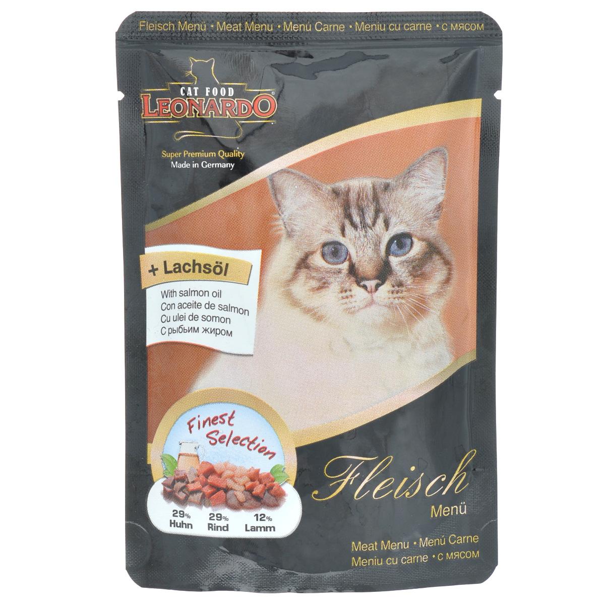 Консервы Leonardo для взрослых кошек, с мясом, 85 г41869Консервы Leonardo - полноценное сбалансированное питание для взрослых кошек. Корм обладает высокой вкусовой привлекательностью и способен удовлетворить потребности любой кошки. Состав: мясо курицы, сердце, желудок, печень (29%), говядина, сердце, легкие, печень, почки, рубец (29,6%), бульон из курицы, говядины и ягненка (29%), легкие ягненка (12%), рыбий жир (семейство лососевые) (0,2%), карбонад кальция (0,2%). Анализ: влажность 80%, протеин 10,7%, жир 7%, зола 1,9%, клетчатка 0,3%. Добавки на кг: витамин А - 3000 ME, витамин D3 - 200 ME, витамин Е - 30 МЕ, таурин - 1500 мг, марганец - 3 мг, цинк - 15 мг, йод - 0,75 мг, селен - 0,03 мг. Товар сертифицирован.