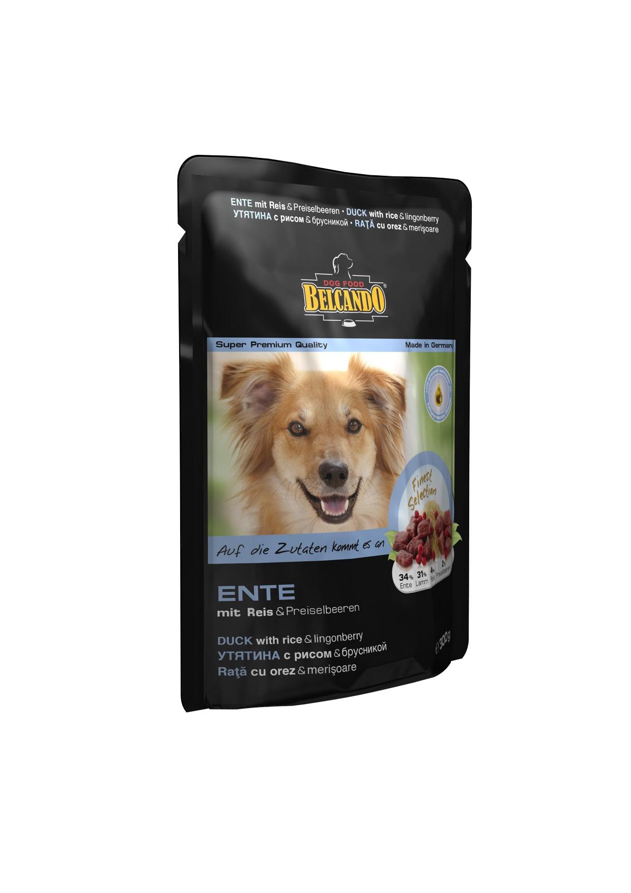 Консервы для собак Belcando, с уткой, рисом и брусникой, 125 г43352Консервы для собак Belcando - это великолепная рецептура в практичной индивидуальной порции. Корм подходит также для собак, склонных к аллергии. Состав: сердце утки, печень (34%), мясо ягненка, печень, легкие, сердце, рубец (31%), бульон из ягненка и утки (28%), рис (4%), брусника (4%), масло чертополоха (0,5%), карбонат кальция (0,5%). Содержание: протеин 10,8%, жир 6,4%, клетчатка 0,3%, зола 2%, влажность 76%. Добавки на кг: витамин А 3,000 МЕ, витамин Е 30 мг, марганец 3 мг, цинк 15 мг, йод 0,75 мг, селен 0,03 мг. Товар сертифицирован.
