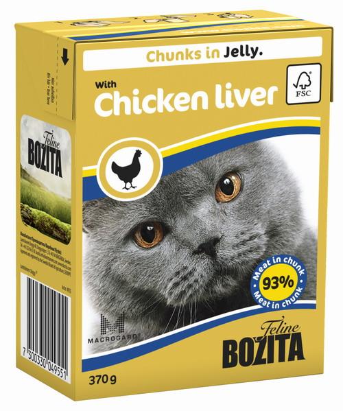 Консервы для кошек Bozita Feline, с куриной печенью в желе, 370 г4955Консервы Bozita Feline - это полнорационное влажное питание премиум класса для кошек. Содержит 93% свежего шведского мяса, которое никогда не было заморожено. Состав: курица (в том числе 10% куриной печени в кусочке), говядина, свинина, карбонат кальция, дрожжи MacroGard. Добавки на кг: витамин А 2000МЕ, витамин D3 200МЕ, витамин Е 12 мг, таурин 700 мг, медь 2 мг (сульфат меди-(II), пентагидрат), марганец 1,8 мг (оксид марганца -II и -III), цинк 14 мг (сульфат цинка, моногидрат), йод 0,1 мг (йодат кальция, моногидрат). Содержит все витамины и минералы, в которых нуждается ваш питомец. Специальные добавки на кг: кассия десен 1180 мг. Анализ состава: белок 8,5%, жир 4,5%, клетчатка 0,5%, минеральные вещества (сырая зола 2,3%, кальций 0,35%, фосфор 0,3%, магний 0,02%), влага 83%. Продукт не содержит ГМО. Энергетическая ценность: 290 кДж/100г. Вес: 370 г. Товар сертифицирован.