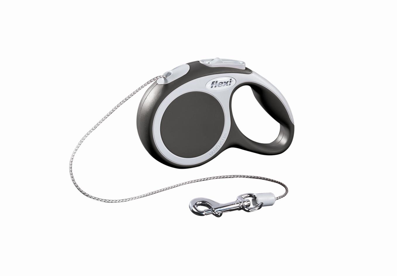 Поводок-рулетка Flexi Vario Basic ХS для собак до 8 кг, цвет: серый, 3 м019009Поводок-рулетка Flexi Vario Basic ХS изготовлен из пластика и нейлона. Тросовый поводок обеспечивает каждой собаке свободу движения, что идет на пользу здоровью и радует вашего четвероногого друга. Рулетка очень проста в использовании, оснащена кнопками кратковременной и постоянной фиксации. Ее можно оснастить - мультибоксом для лакомств или пакетиков для сбора фекалий, LED подсветкой корпуса, своркой или ремнем с LED подсветкой. Поводок имеет прочный корпус, хромированную застежку и светоотражающие элементы. Длина поводка: 3 м. Максимальная нагрузка: 8 кг. Товар сертифицирован.