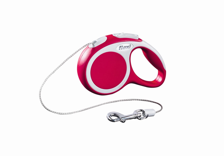 Поводок-рулетка Flexi Vario Basic ХS для собак до 8 кг, цвет: красный, 3 м019016Поводок-рулетка Flexi Vario Basic ХS изготовлен из пластика и нейлона. Тросовый поводок обеспечивает каждой собаке свободу движения, что идет на пользу здоровью и радует вашего четвероногого друга. Рулетка очень проста в использовании, оснащена кнопками кратковременной и постоянной фиксации. Ее можно оснастить - мультибоксом для лакомств или пакетиков для сбора фекалий, LED подсветкой корпуса, своркой или ремнем с LED подсветкой. Поводок имеет прочный корпус, хромированную застежку и светоотражающие элементы. Длина поводка: 3 м. Максимальная нагрузка: 8 кг. Товар сертифицирован.