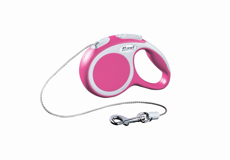 Поводок-рулетка Flexi Vario Basic ХS для собак до 8 кг, цвет: розовый, 3 м019054Поводок-рулетка Flexi Vario Basic ХS изготовлен из пластика и нейлона. Тросовый поводок обеспечивает каждой собаке свободу движения, что идет на пользу здоровью и радует вашего четвероногого друга. Рулетка очень проста в использовании, оснащена кнопками кратковременной и постоянной фиксации. Ее можно оснастить - мультибоксом для лакомств или пакетиков для сбора фекалий, LED подсветкой корпуса, своркой или ремнем с LED подсветкой. Поводок имеет прочный корпус, хромированную застежку и светоотражающие элементы. Длина поводка: 3 м. Максимальная нагрузка: 8 кг. Товар сертифицирован.