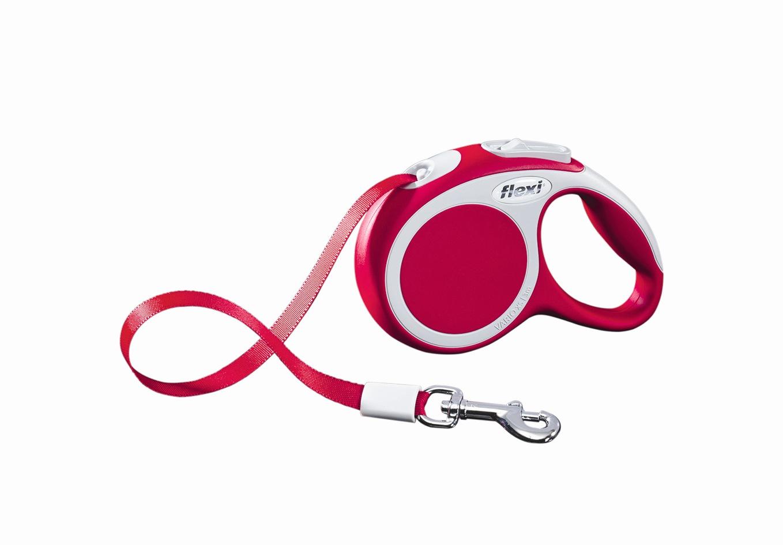Поводок-рулетка Flexi Vario Compact ХS для собак до 12 кг, цвет: красный, 3 м019818Поводок-рулетка Flexi Vario Compact ХS изготовлен из пластика и нейлона. Ленточный поводок обеспечивает каждой собаке свободу движения, что идет на пользу здоровью и радует вашего четвероногого друга. Рулетка очень проста в использовании, оснащена кнопками кратковременной и постоянной фиксации. Ее можно оснастить - мультибоксом для лакомств или пакетиков для сбора фекалий, LED подсветкой корпуса, своркой или ремнем с LED подсветкой. Поводок имеет прочный корпус, хромированную застежку и светоотражающие элементы. Длина поводка: 3 м. Максимальная нагрузка: 12 кг. Товар сертифицирован.