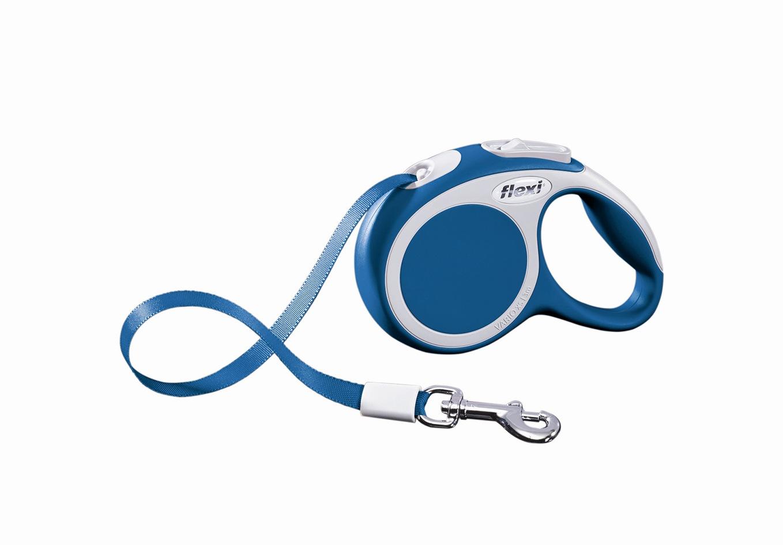 """Поводок-рулетка Flexi """"Vario Compact ХS"""" для собак до 12 кг, цвет: синий, 3 м"""