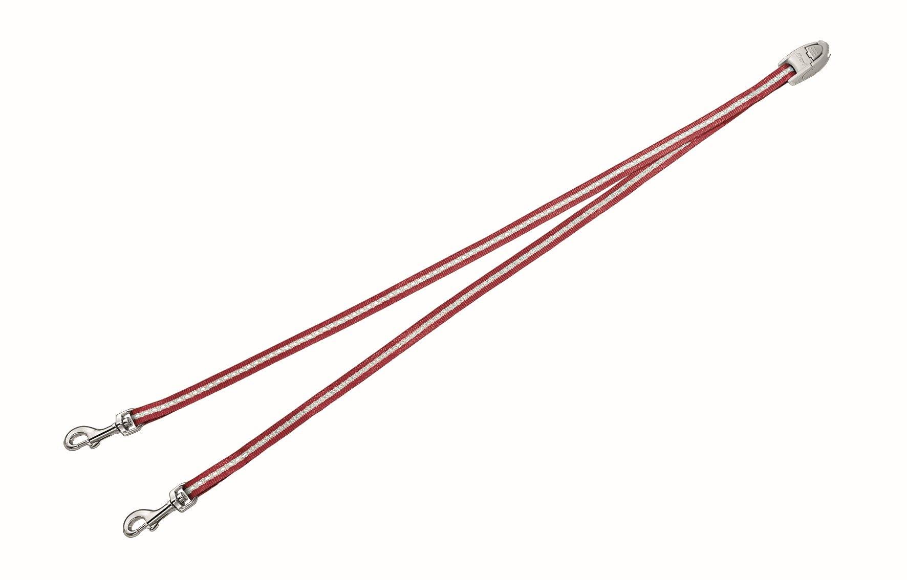 Сворка Flexi Vario Duo Belt S для собак до 5 кг, цвет: красный, 42 см020715Сворка Flexi Vario Duo Belt S изготовлена из металла и нейлона. Данный аксессуар позволяет адаптировать рулетку для выгула 2 собак. Сворка обеспечивает каждой собаке свободу движения, что идет на пользу здоровью и радует вашего четвероногого друга. Сворка Flexi - специальное дополнение к поводку Flexi Vario размером S. При выборе рулетки для двух собак нужно учитывать суммарный вес обеих собак. Поводок имеет хромированную застежку. Длина поводка (без учета карабина): 42 см. Ширина поводка: 9 мм. Максимальная нагрузка: 5 кг. Товар сертифицирован.