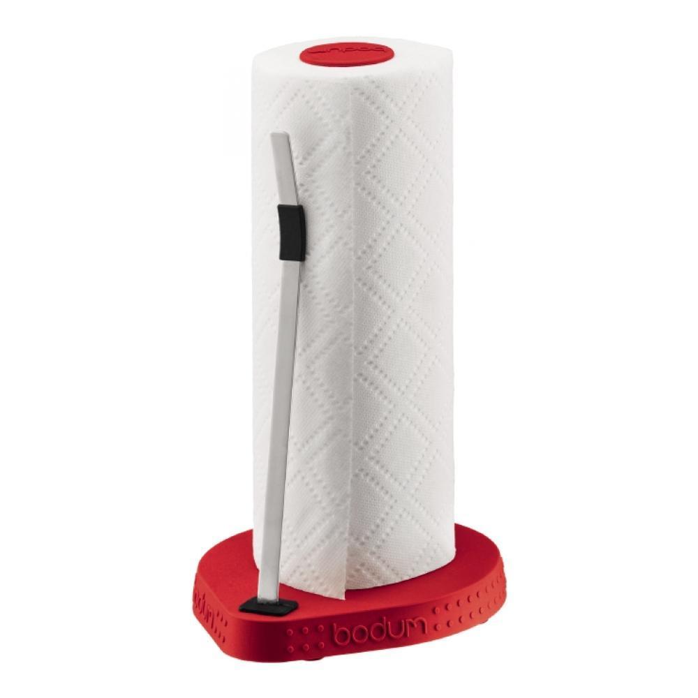 """Держатель для бумажных полотенец Bodum """"Bistro"""", цвет: красный, высота 26,5 см"""
