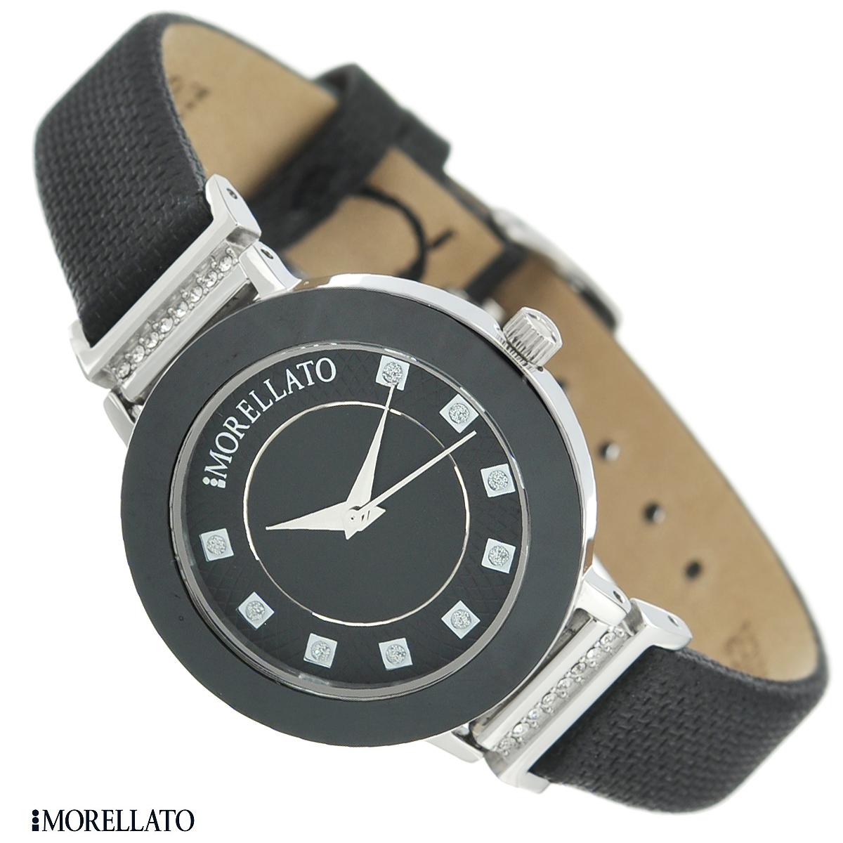 Часы женские наручные Morellato, цвет: черный, серебристый. R0151103501R0151103501Наручные женские часы Morellato оснащены кварцевым механизмом. Корпус выполнен из высококачественной нержавеющей стали и керамики. Циферблат с отметками в виде критсаллов защищен минеральным стеклом. Часы имеют три стрелки - часовую, минутную и секундную. Ремешок часов выполнен из натуральной кожи и оснащен классической застежкой. Часы укомплектованы паспортом с подробной инструкцией. Часы Morellato отличаются уникальным, но в то же время простым и лаконичным стилем. Характеристики: Диаметр циферблата: 2,4 см. Размер корпуса: 3 см х 3 см х 0,8 см. Длина ремешка (с корпусом): 21,5 см. Ширина ремешка: 1,2 см.