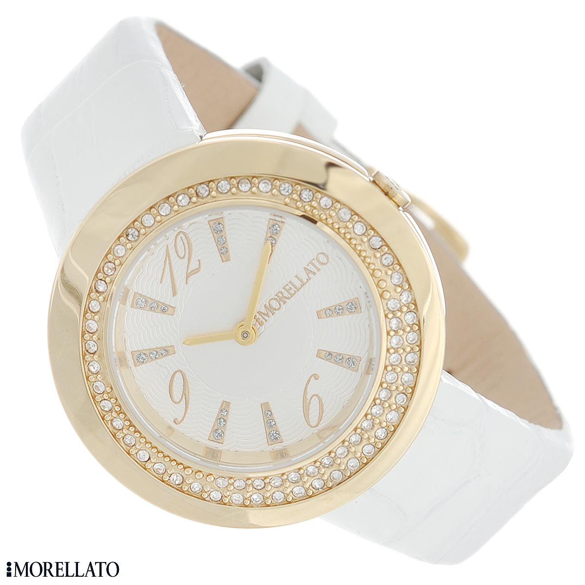 Часы женские наручные Morellato, цвет: белый, золотой. R0151112504R0151112504Наручные женские часы Morellato оснащены кварцевым механизмом. Корпус выполнен из высококачественной нержавеющей стали с PVD-покрытием и декорирован кристаллами. Циферблат с арабскими цифрами и отметками украшен кристаллами и защищен минеральным стеклом. Часы имеют две стрелки - часовую и минутную. Ремешок часов выполнен из натуральной кожи с тиснением и оснащен классической застежкой. Часы укомплектованы паспортом с подробной инструкцией. Часы Morellato отличаются уникальным, но в то же время простым и лаконичным стилем. Характеристики: Диаметр циферблата: 2,3 см. Размер корпуса: 3,5 см х 3,5 см х 0,6 см. Длина ремешка (с корпусом): 20,5 см. Ширина ремешка: 1,6 см.