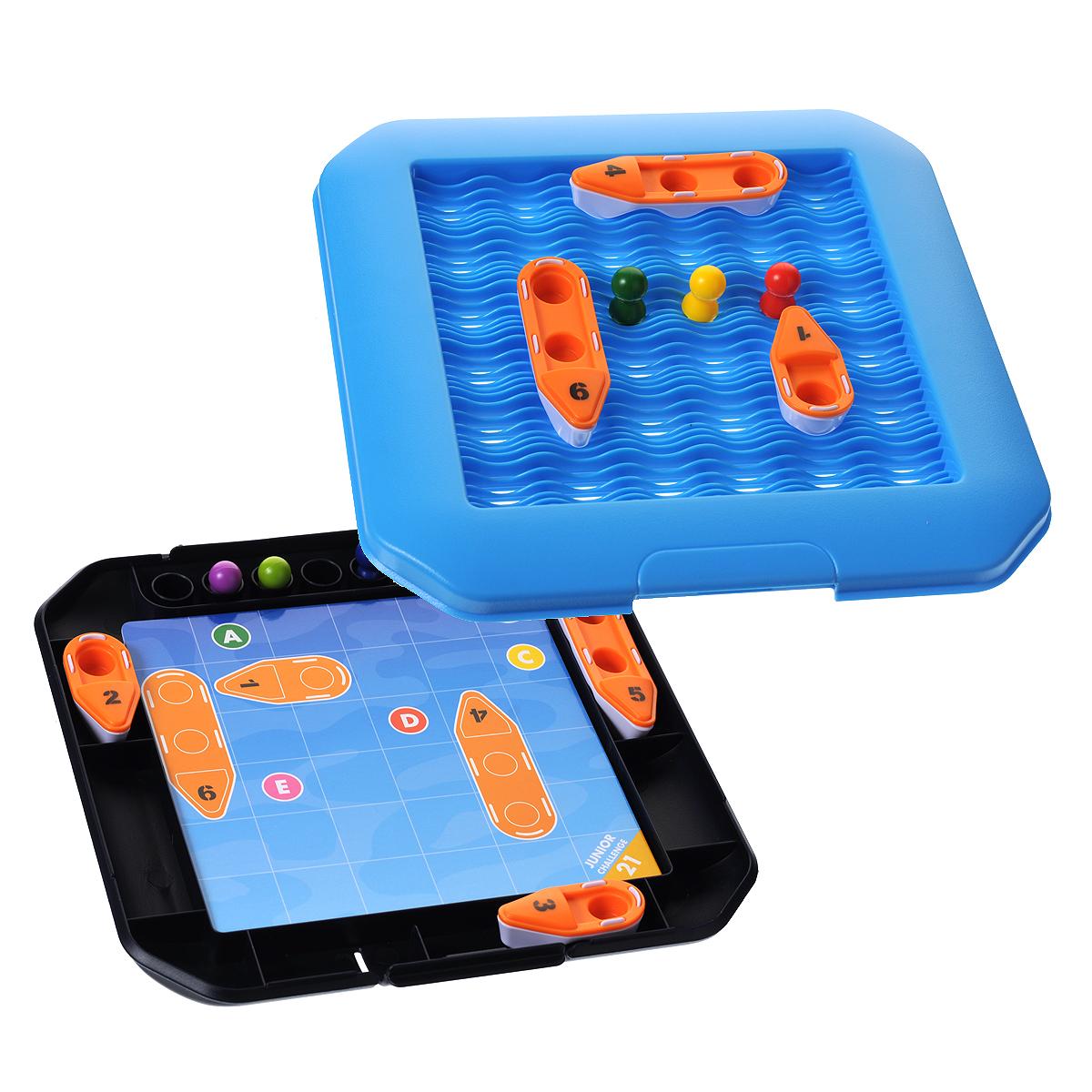 Логическая игра Bondibon Smartgames СпасателиВВ1080Логическая игра Bondibon Smartgames Спасатели - очень непростая логическая игра с множеством вариантов решения задачи. Игра предусматривает 48 заданий четырех уровней сложности. На игровом поле волнуется море; пассажиры судна из последних сил держатся на волнах. Спасательные шлюпки готовы к работе, но: передвигаться шлюпки должны по строго определенным правилам, чтобы не столкнуться друг с другом, не задеть кто-то из пострадавших и спасти из воды всех без исключения мерзнущих в ледяной воде пострадавших. В набор входят: игровое поле из двух частей, 48 карточек с заданиями, 6 спасательных шлюпок (3 одноместные, 3 двухместные), 7 фигурок пассажиров и буклет с правилами игры на русском языке. Элементы игры удобно хранить внутри игрового поля. Таким образом, игру удобно брать с собой в дорогу, в гости или на прогулку.