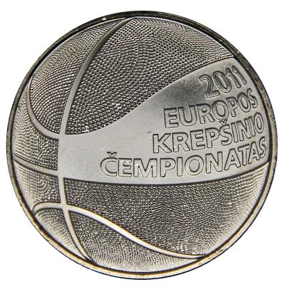 Монета номиналом 1 лит Чемпионат Европы по баскетболу. Медно-никелевый сплав. Литва, 2011 год131004Монета номиналом 1 лит Чемпионат Европы по баскетболу. Медно-никелевый сплав. Литва, 2011 год. Диаметр 2,2 см.