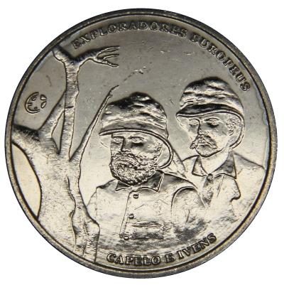 Монета номиналом 2,5 евро Эрменеджильду Капеллу и Роберто Ивенс. Португалия, 2011 год656Монета номиналом 2,5 евро Эрменеджильду Капеллу и Роберто Ивенс. Португалия, 2011 год Металл: Cu-Ni Диаметр: 28 мм Масса: 10,0 г Состояние: UNC (без обращения).