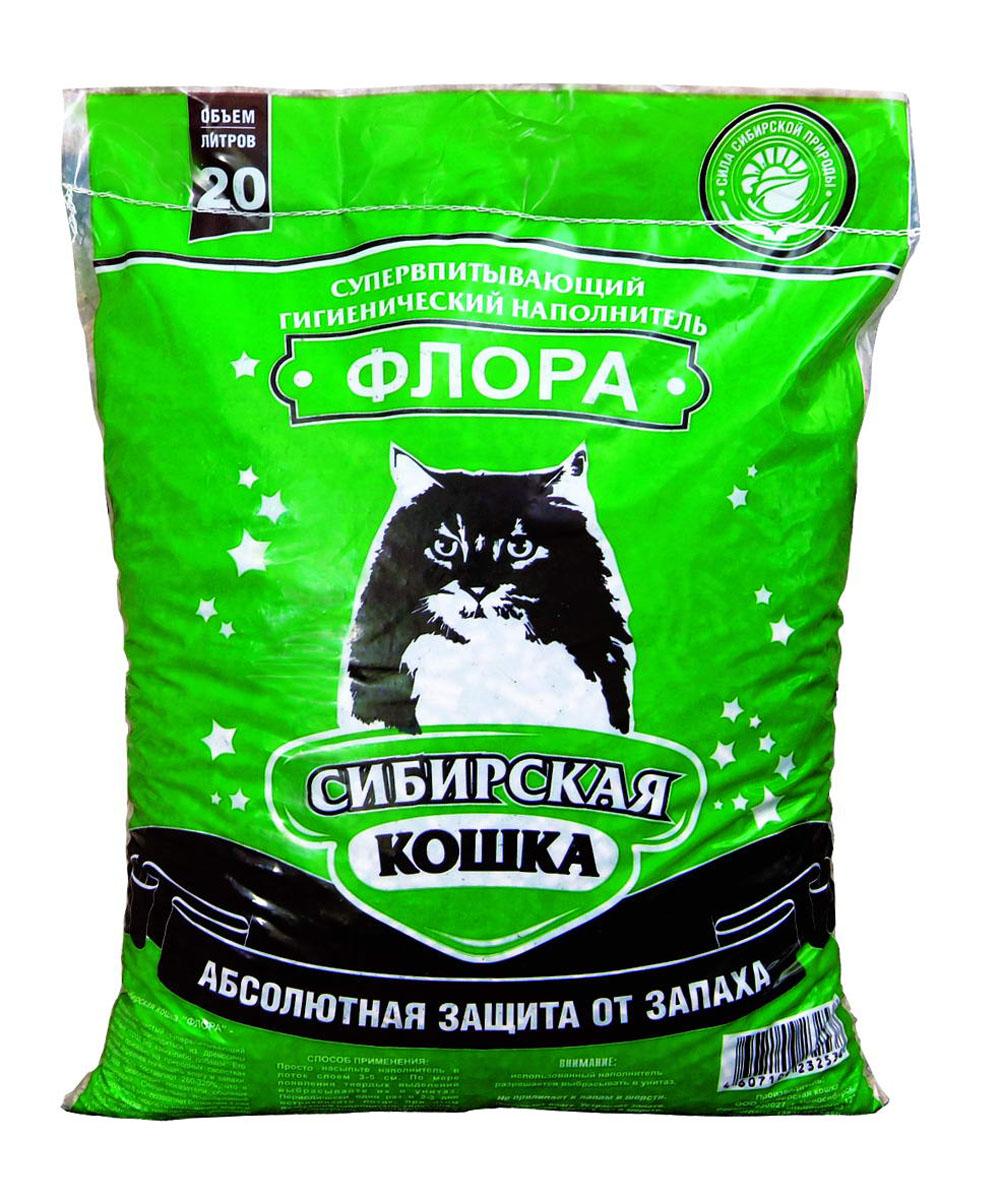 """Наполнитель для кошачьих туалетов Сибирская Кошка """"Флора"""", 20 л"""