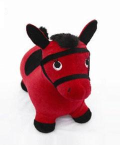 Надувная игрушка-попрыгун Лошадка, цвет: красный63799Надувная игрушка-попрыгун Лошадка - отличный подарок для вашего ребенка, ведь это не только веселая игрушка, но и тренажер для развития мышц, координации движений, ловкости и чувства равновесия. Она великолепно подойдет для прыжков, зарядки и веселых игр! Игрушка выполнена из текстильного материала в виде красной лошадки. Ее внутренняя часть из прочной резины легко надувается обычным насосом. Ребенок сможет сидеть на игрушке, держаться ручками за ее ушки или уздечку и прыгать, отталкиваясь ногами от пола. Порадуйте своего маленького непоседу таким замечательным подарком!