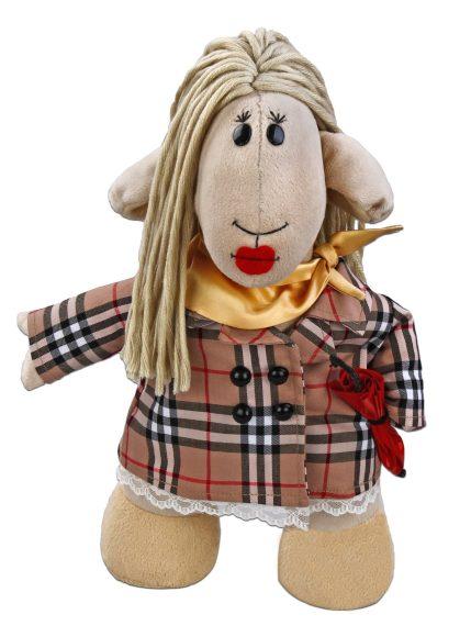 Мягкая игрушка Fluffy Family Овечки челОвечки: Модница, 31 см681025Забавная мягкая игрушка Fluffy Family Овечки челОвечки: Модница поднимет настроение и малышам, и взрослым. Игрушка изготовлена из высококачественного текстильного материала с набивкой из полиэфирного волокна. Игрушка выполнена в виде стильной овечки в клетчатом пальто. Модный зонт, блестящий шарфик и ярко-алые губы дополняют образ. На голове Модницы - курчавые волосы из ниток. Игрушка имеет уплотнения в ногах, позволяющие ей стоять самостоятельно. Оригинальная мягкая игрушка способна развеселить как ребенка, так и взрослого. Внешний вид игрушки продуман до мелочей, и она идеально вписывается в задуманный образ. Такая очаровательная овечка непременно вызовет у вас улыбку. Великолепное качество исполнения делают эту игрушку чудесным подарком к любому празднику. Овечки челОвечки - это оригинальная коллекция авторских игрушек. Все челОвечки такие разные, и все-таки в каждом мы узнаем своих знакомых, друзей и возможно даже самих себя.
