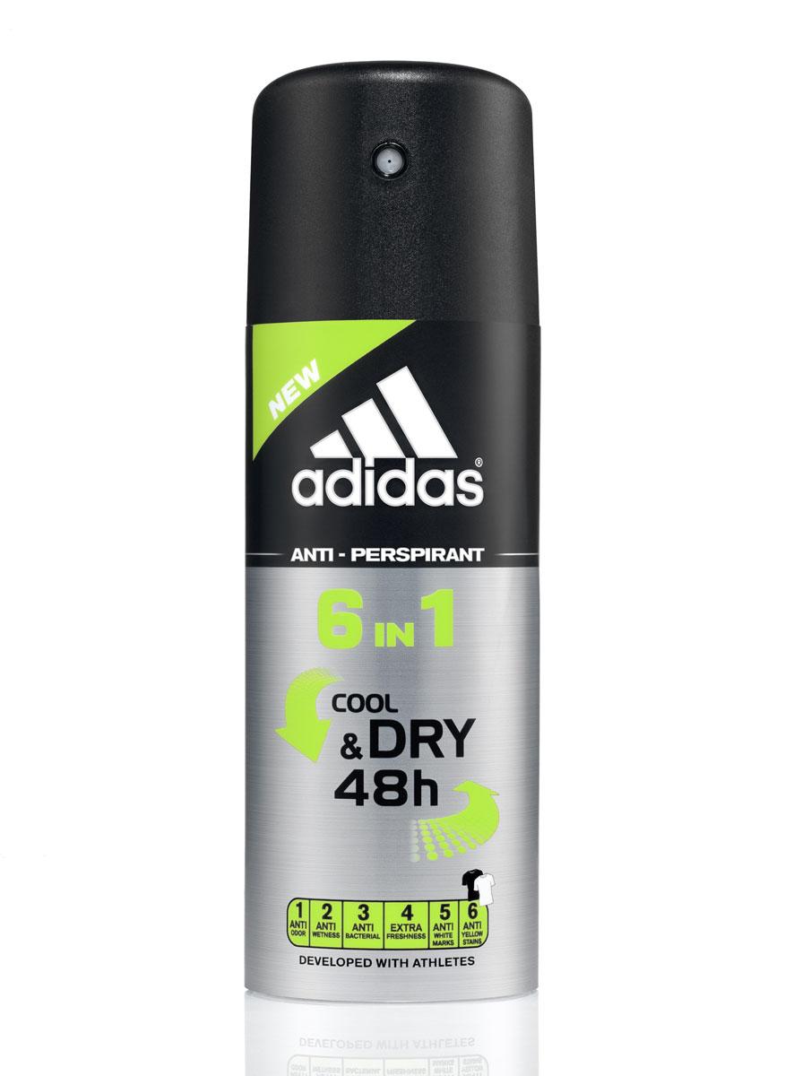 Аdidas 6in1 Cool&Dry Anti-Perspirant дезодорант антиперспирант спрей 6 в 1 для мужчин 150 мл3400107125Идеальная комбинация свойств антиперспиранта и ухаживающих компонентов обеспечивает надежную защиту, благодаря 6 активным действиям: 1. Против запаха; 2. Против пота; 3. Антибактериальный; 4. Экстра-свежесть; 5. Против белых следов; 6. Против желтых пятен. Его уникальная формула разработана при участии спортсменов. Сохраняет ощущение свежести на весь день. Заботится о вашей коже. Не содержит спирт. Не нарушает pH баланс. Прошел дерматологическое тестирование. Товар сертифицирован.