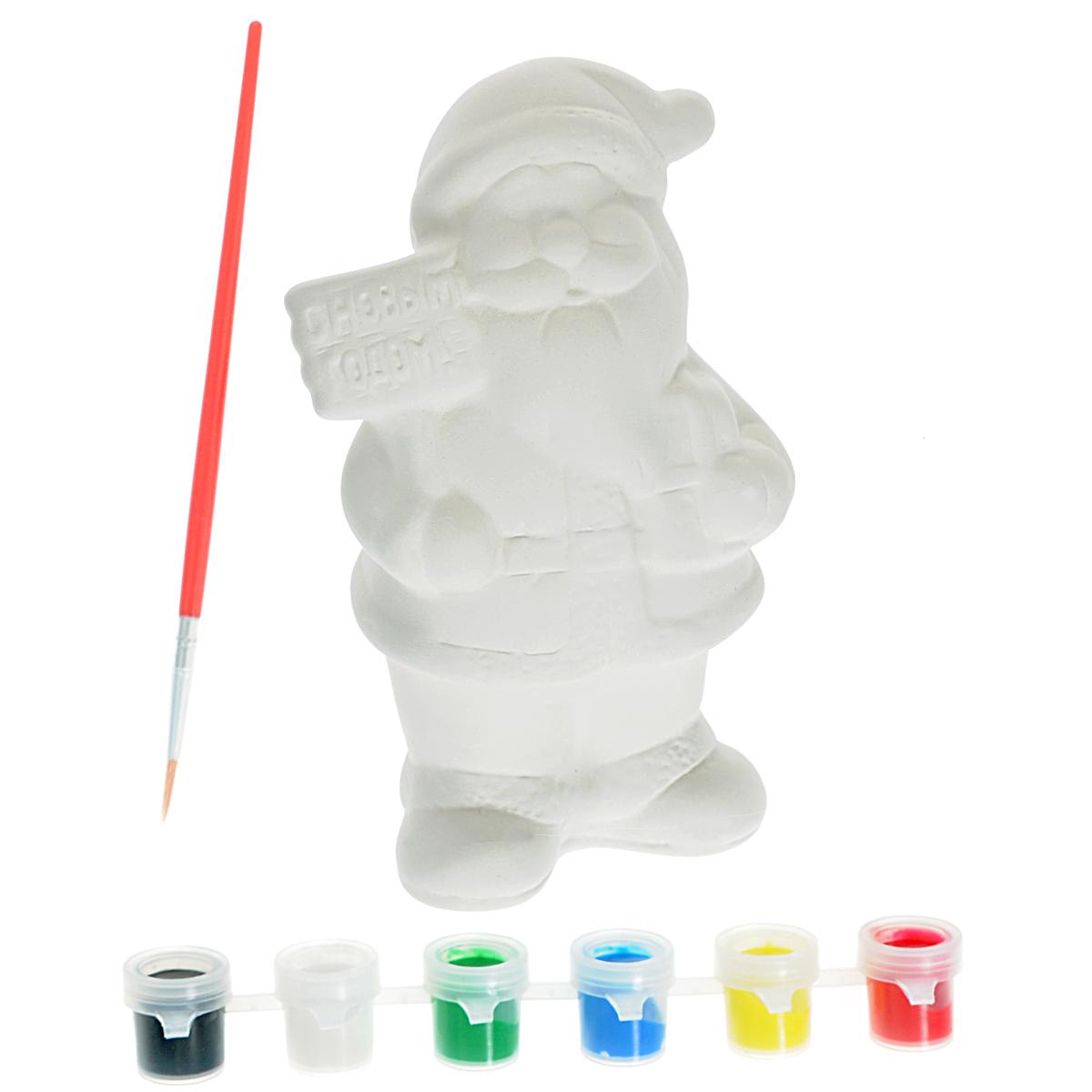Набор для росписи елочной игрушки Досуг с Буки. Дед Мороз. ВВ0975ВВ0975Набор для росписи Досуг с Буки. Дед Мороз позволит вам своими руками создать оригинальную елочную игрушку в виде Деда Мороза. Атмосферу новогоднего праздника так приятно создавать вместе со своими детьми. Ведь в первую очередь этот праздник, конечно же, для них! А вы помните, какие игрушки на вашей елке знакомы вам с самого вашего детства? А теперь представьте, что ваш ребенок вместе с вами создал сам новогоднюю игрушку, которая будет из года в год украшать вашу красавицу - елку. В наборе вы найдете все необходимое: керамическую заготовку игрушки в виде Деда Мороза, краски шести классических цветов и кисть. Раскрашивать изделия из керамики - очень интересно и увлекательно. Готовая расписная керамическая фигурка станет прекрасным украшением любого интерьера или замечательным подарком для близких и друзей. Процесс раскрашивания помогает развить творческие способности, усидчивость, внимательность, самостоятельность, координацию движений. Создать...