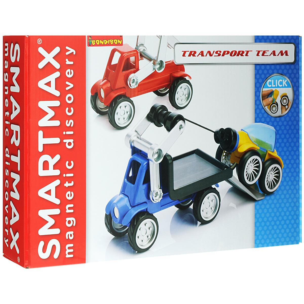 Bondibon Конструктор магнитный Smartmax ТранспортВВ1063/SMX 254Магнитный конструктор Bondibon Smartmax Транспорт не только будет развлекать вашего малыша игрой, освобождая вас на некоторое время от его требовательного внимания, но и познакомит вашего почемучку с принципом действия магнитов! В комплект входят 17 элементов магнитного конструктора, в том числе два блока-основы, из которых ребенок без труда сможет собрать погрузчик для перевозки и эвакуатор. Благодаря прорезиненным колесикам со свободным ходом малыш с удовольствием будет катать собранные игрушки. Благодаря крупным размерам элементов конструктора малышу будет удобно их держать. Магниты держатся внутри элементов очень прочно, и выпадение их во время игры исключено. Готовую модель можно сразу разобрать, чтобы создать нечто более новое и совершенное, а можно использовать ее в сюжетно-ролевой игре. Объединяйте разные наборы SmartMax и расширяйте творческие возможности своего маленького изобретателя! В серию этих конструкторов вошли разные наборы, но все они...