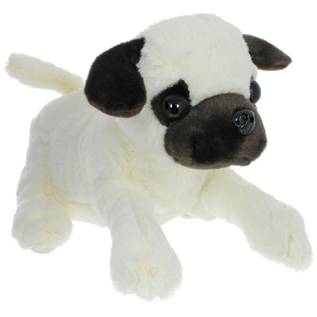 Интерактивная игрушка Fluffy Family Пес Тимка68713Интерактивная игрушка Fluffy Family Пес Тимка привлечет внимание вашего ребенка и не оставит его равнодушным! Мягкая игрушка выполнена из полиэстера в виде забавного песика по кличке Тимка. Он отлично реагирует на прикосновения: при поглаживании головы или спинки песик поворачивает голову, виляет хвостиком, скулит или лает. Невероятно приятная на ощупь игрушка подарит своему обладателю хорошее настроение и станет для него настоящим другом. Играя с ней, ребенок сможет развить не только координацию движений и мелкую моторику рук, но и слуховое, зрительное и тактильное восприятие. Необходимо докупить 3 батарейки напряжением 1,5V типа АА (не входят в комплект).