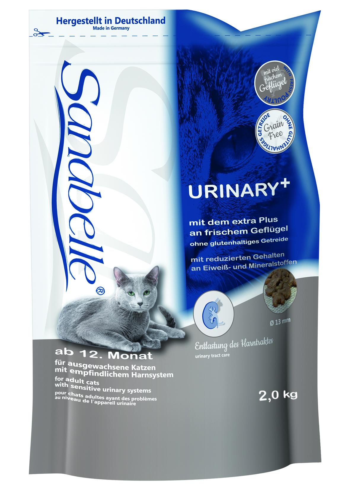 Корм сухой Sanabelle Urinary для кошек с чувствительной мочеполовой системой, 2 кг57840Полностью сбалансированный высококачественный сухой корм для взрослых кошек с чувствительной мочеполовой системой. Ингредиенты: свежее мясо домашней птицы (мин. 20%), рис, животный жир, мука из свежего мяса, жировая клетчатка (дегидратированная), печень, гидролизованный протеин, свекольная пульпа (без сахара), клетчатка, льняное семя, рыбий жир, дрожжи, карбонат кальция, хлорид калия, клюква, черника, мука из мидий, цикориевая пудра, сушеные цветки бархатцев, экстракт юкки. Состав: протеин 24,5%, содержание жира 21,5%, клетчатка 4,5%, минеральные вещества 4,4%, магний 0,05%, влажность 10,0%. Экстрактивные вещества, не содержащие азот 35,1%. Основные добавки: Пищевые добавки на 1 кг корма: Витамин А 25.000 МЕ, Витамин Д3 1.500 МЕ, Витамин Е 600 мг, таурин 2.000 мг, медь (в форме сульфата меди (2), пентагидрат) 10 мг, цинк (в форме окиси цинка) 30 мг, цинк (в аминокислотной хелатной форме, гидрат) 70 мг, йод (в форме йодида кальция, безводный) 2 мг, селен (в форме...