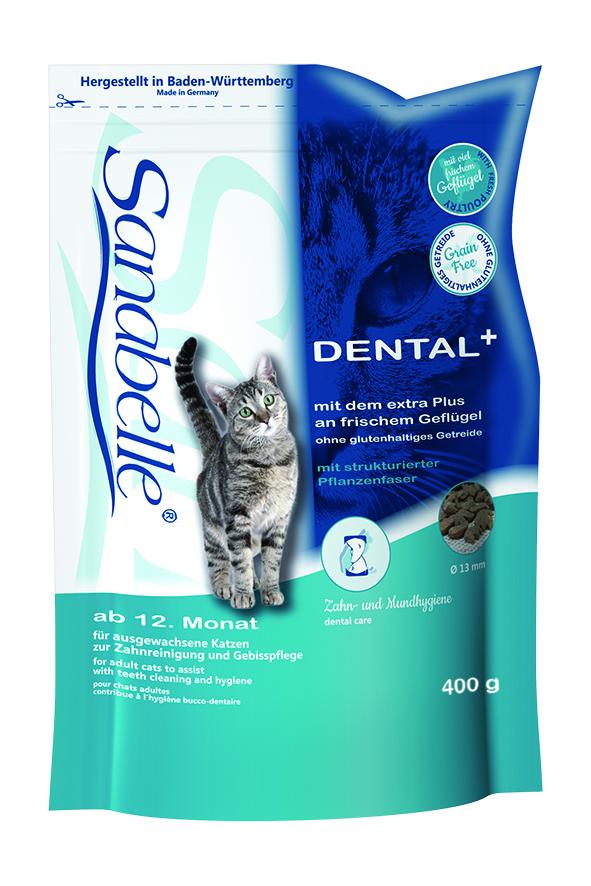 Корм сухой Sanabelle Dental для взрослых кошек, профилактика заболеваний зубной системы, 0,4 кг57850Сухой корм Sanabelle Dental предназначен для взрослых кошек. Это полностью сбалансированный высококачественный сухой корм для профилактики заболеваний зубной системы и поддержания правильной микрофлоры ротовой полости. Специальный размер и структура гранул оказывают полировочный эффект на зубную поверхность. Использование фосфатов, которые связывают ионы кальция, не дают образовываться зубному камню. Состав: мясо домашней птицы, рис, ячмень, животный жир, клетчатка, печень, жировая клетчатка (дегидратированная), гидролизованное мясо, рыбная мука, яичный порошок, льняное семя, рыбий жир, натрия фосфат, дрожжи, хлорид калия, клюква, черника, мука из мидий, цикориевая пудра, сушеные цветки бархатцев, экстракт юкки. Добавки: витамин А 25000 МЕ, витамин D3 1500 МЕ, витамин Е 600 мг, таурин 2000 мг, медь (в форме сульфата меди (ll), пентагидрат) 10 мг, цинк (в форме окиси цинка) 30 мг, цинк (в аминокислотной хелатной форме, гидрат) 75 мг, йод (в форме йодида кальция,...