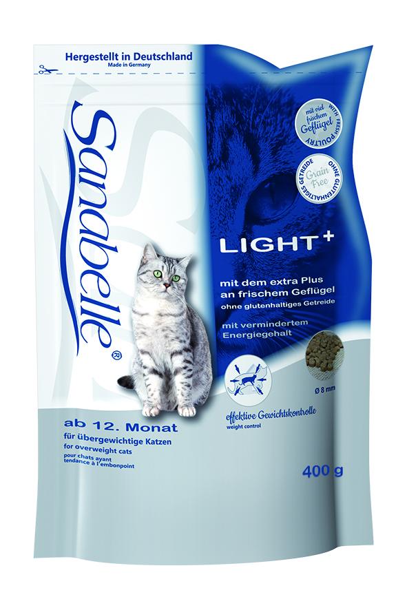 Корм сухой Sanabelle Light + для кошек с избыточным весом, 400 г57844Полностью сбалансированный высококачественный сухой корм для взрослых кошек, склонных к избыточному весу после кастрации (стерилизации) кошек, ведущих малоподвижный образ жизни. Сбалансированный состав помогает кошке сохранить идеальный вес. Небольшое содержание при высочайшем качестве протеина снижает нагрузку на печень. Балластные вещества стабилизируют кишечную флору и способствуют правильной работе пищеварительной системы. Низкая калорийность при нормальном содержании протеина. Корм для кошек Sanabelle Light + позволяет сохранить и поддерживать идеальный вес, тем самым смягчает нагрузку на кости, суставы, мышцы и внутренние органы животного. Низкая калорийность Sanabelle Light + достигается путем процентного снижения количества жиров при нормальном содержании протеина. Такое сочетание позволяет использовать этот корм не только для снижение веса, но и для повседневного кормления кастрированных, малоподвижных и склонных к полноте кошек. ...