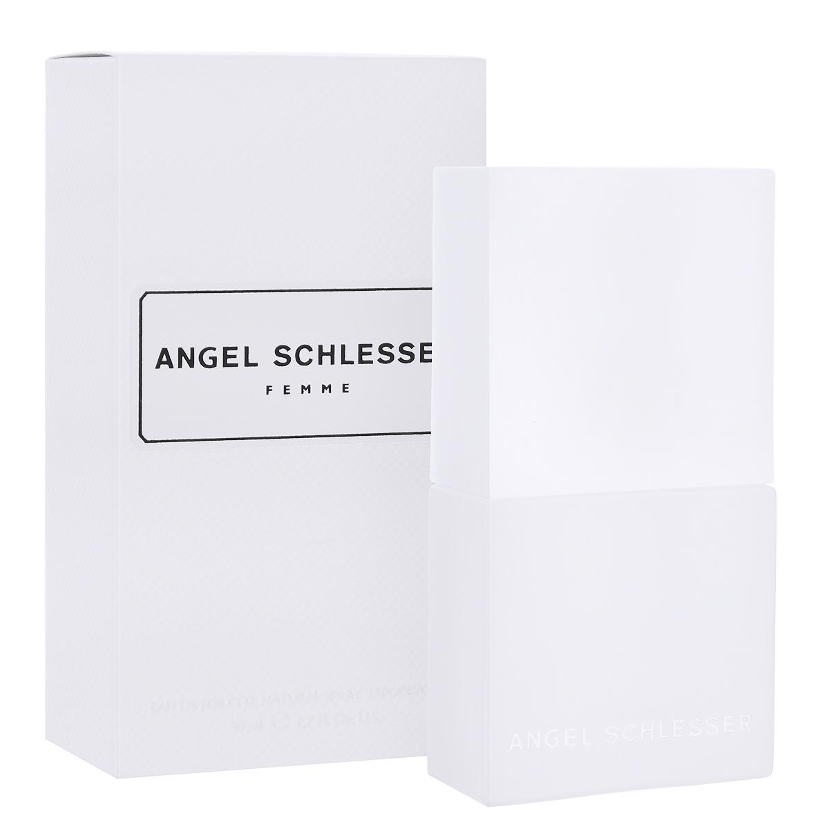 Angel Schlesser Туалетная вода Femme, женская, 50 мл44972Женский аромат Femme от Angel Schlesser прекрасно подойдет современным девушкам и женщинам, которые следят за новинками в мире моды и парфюмерии. Создатель аромата - один из самых знаменитых носов Альберто Мориллас. Прозрачность и яркость - абстрактные понятия, но благодаря молекуле второго поколения Гедиону, усиливающей степень и объем распространения аромата, парфюмеру удалось воплотить их в уникальной формуле, удивительно непохожей на другие, соблазнительной и разоблачающей. Классификация аромата : цветочный, цитрусовый. Пирамида аромата : Верхние ноты: бергамот, мандарин, нероли, корень можжевельника. Ноты сердца: лепестки ландыша, Гедион, зеленый и красный перец. Ноты шлейфа: кардамон, шалфей, белый мускус. Ключевые слова свежий, элегантный, чувственный! Туалетная вода - один из самых популярных видов парфюмерной продукции. Туалетная вода ...