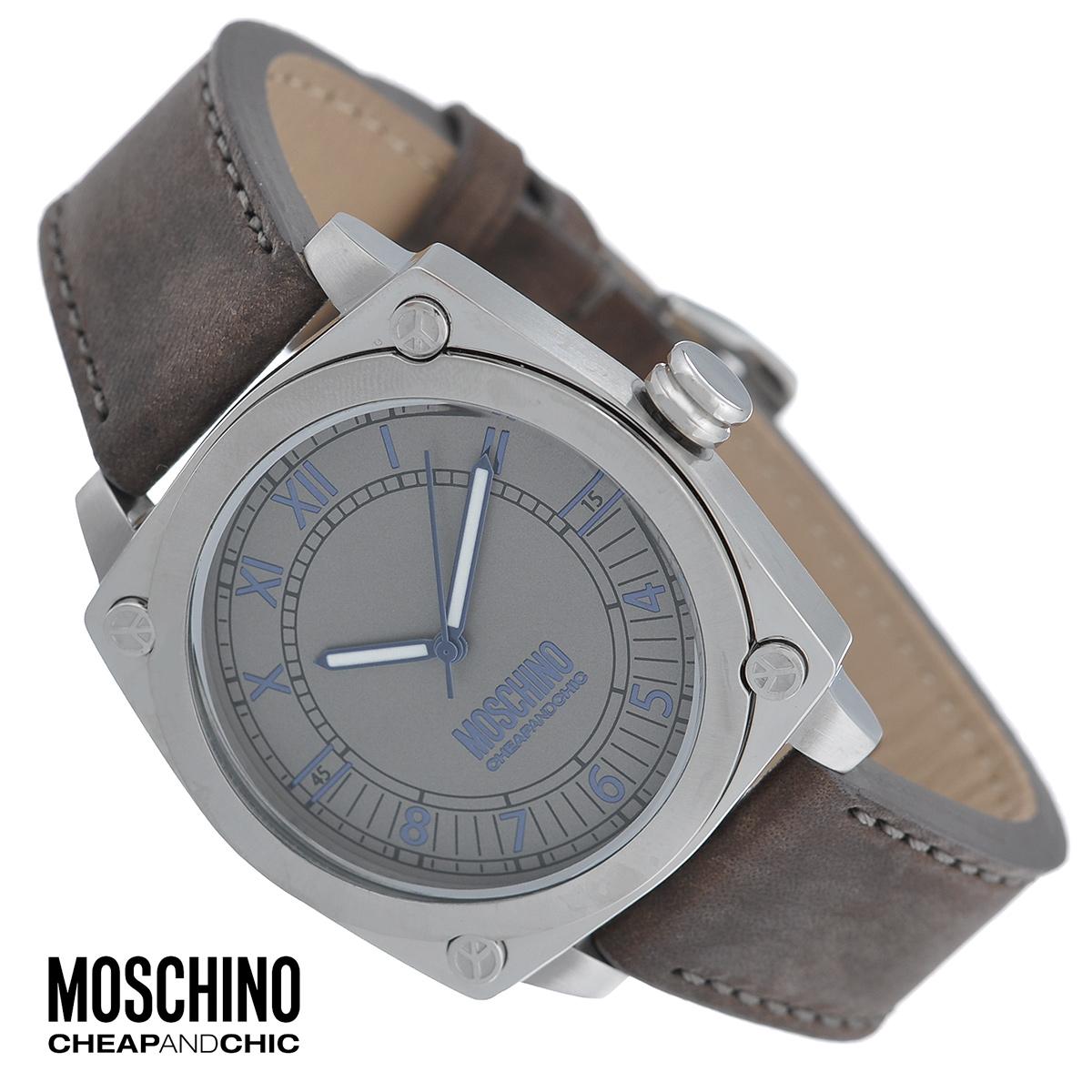 Часы мужские наручные Moschino, цвет: серебристый, коричневый. MW0295MW0295Наручные часы от известного итальянского бренда Moschino - это не только стильный и функциональный аксессуар, но и современные технологи, сочетающиеся с экстравагантным дизайном и индивидуальностью. Часы Moschino оснащены кварцевым механизмом. Корпус выполнен из высококачественной нержавеющей стали с сатиновой полировкой. Циферблат с римскими и арабскими цифрами защищен минеральным стеклом. Часы имеют три стрелки - часовую, минутную и секундную. Ремешок часов выполнен из толстой натуральной кожи и оснащен классической застежкой. Часы упакованы в фирменную металлическую коробку с логотипом бренда. Часы Moschino благодаря своему уникальному дизайну отличаются от часов других марок своеобразными циферблатами, функциональностью, а также набором уникальных технических свойств. Каждой модели присуща легкая экстравагантность, самобытность и, безусловно, великолепный вкус. Характеристики: Диаметр циферблата: 3,5 см. Размер...