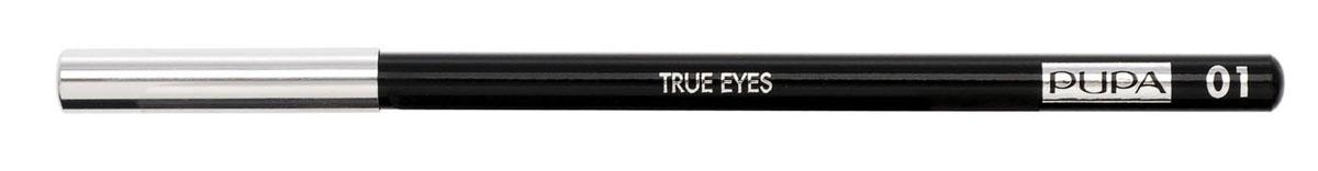 PUPA Карандаш для век TRUE EYES, тон 01 черный , 1.4 г048901Pupa True Eyes - карандаш для глаз, подходящий для подводки внутренней стороны века. Исключительно мягкая текстура обеспечивает ровное и комфортное нанесение. Инновационная технология придает стойкость цвету. Быстро и легко наносится, долго держится на глазах, не оставляет разводов. Натуральные антиоксидантные реагенты бережно относятся к деликатной области у глаз.