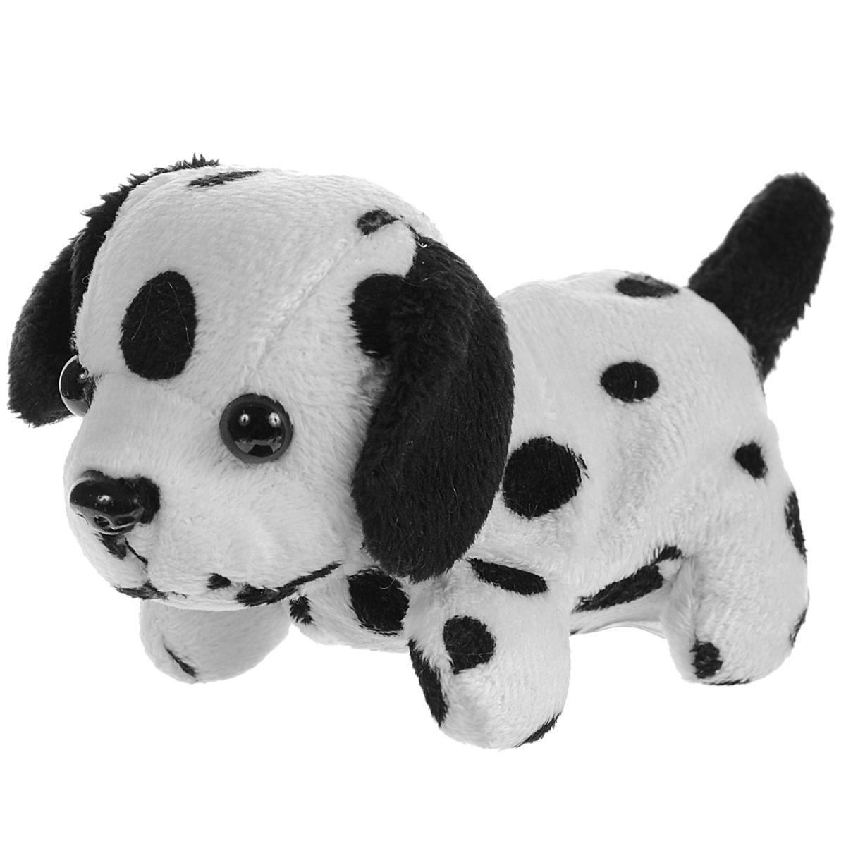 Анимированная игрушка Fluffy Family Щенок Гав, цвет: белый, черный68756Анимированная игрушка Fluffy Family Щенок Гав приведет в восторг вашего малыша. Приятная на ощупь игрушка выполнена в виде очаровательного щеночка породы далматин. При нажатии на кнопку на его спинке он начинает двигать головой и вилять хвостиком, при этом тявкая и поскуливая. Игрушка принесет ребенку много радости и станет верным другом на долгое время. Необходимо докупить 2 батарейки напряжением 1,5V типа ААА (не входят в комплект).